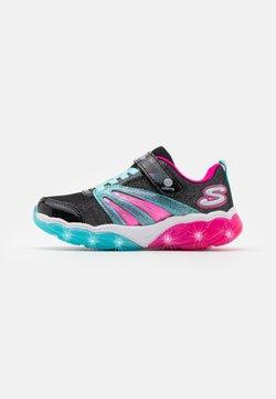 Skechers - FUSION FLASH - Sneaker low - black/turquoise/neon pink