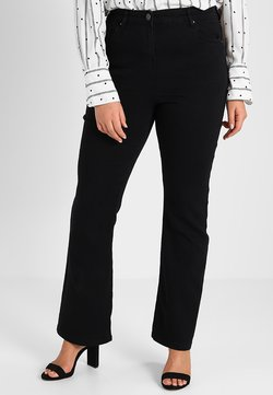 CAPSULE by Simply Be - KIM HIGH WAIST SUPER SOFT  - Bootcut jeans - black