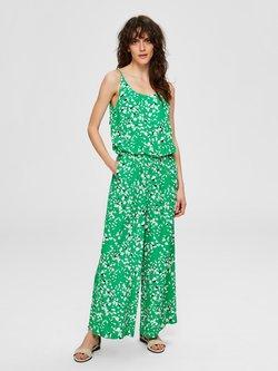 Selected Femme - JUMPSUIT RAFFTAILLEN - Combinaison - bright green