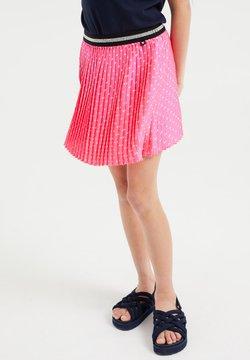 WE Fashion - MET STIPPEN EN GLITTERDETAILS - A-Linien-Rock - bright pink