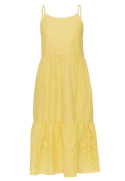 Vero Moda Petite - VMHALO SINGLET CALF DRESS - Day dress - banana cream