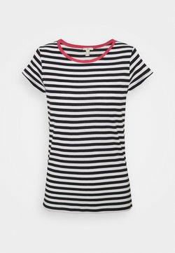 edc by Esprit - CAP SLEEVE - T-Shirt print - navy