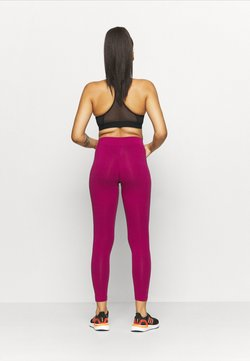 adidas Performance - LIN - Legginsy - berry