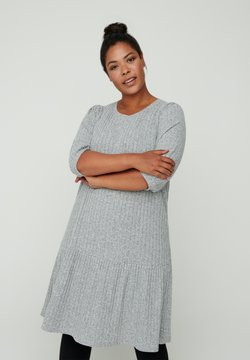 Zizzi - Strickkleid - grey