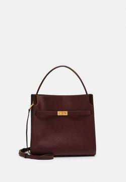 Tory Burch - LEE RADZIWILL DOUBLE BAG - Handtasche - claret