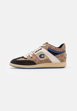 Coach - CITYSOLE SIGNATURE MID TOP - Sneaker high - tan/black