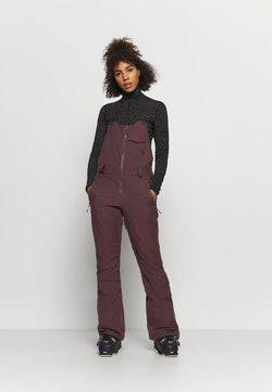 Volcom - SWIFT BIB OVERALL - Pantalón de nieve - black red