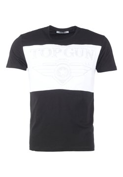 TOP GUN - T-shirt print - black/white