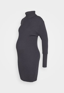 Glamorous Bloom - ROLL NECK DRESS - Trikoomekko - charcoal