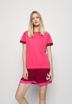 Hummel - LEAD WOMEN - T-Shirt print - raspberry sorbet