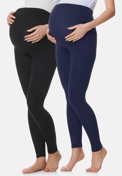 BeMammy - 2 PACK - Legging - schwarz/marineblau