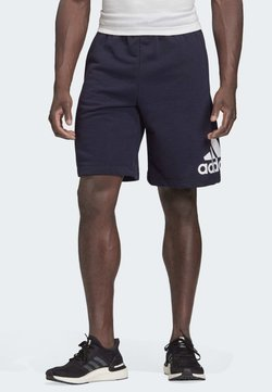adidas Performance - MUST HAVES BADGE OF SPORT SHORTS - kurze Sporthose - blue