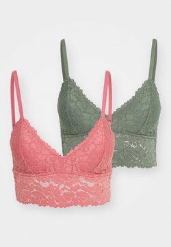 Anna Field - 2 PACK - Brassière - green/pink