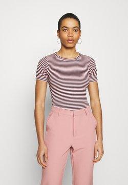 Mads Nørgaard - STRIPE TRUNA - T-Shirt print - pink