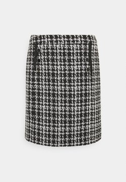 Wallis - MONO CHECK SKIRT - Minirock - mono
