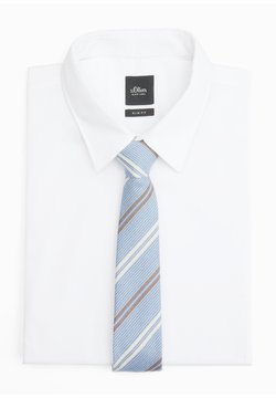 s.Oliver BLACK LABEL - Krawatte - sky blue stripes