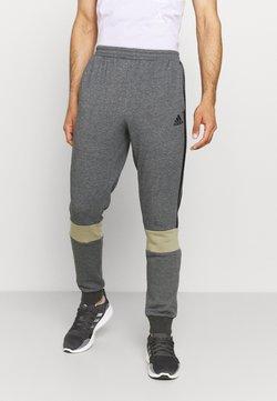 adidas Performance - COLORBLOCK ESSENTIALS - Jogginghose - dark grey heather/black