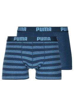 Puma - STRIPE BOXER 2 PACK - Panties - denim