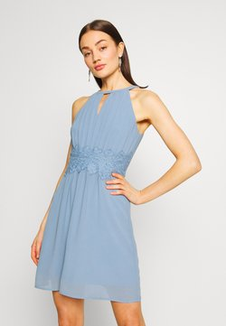 Vila - VIMILINA HALTERNECK DRESS - Cocktailkleid/festliches Kleid - ashley blue