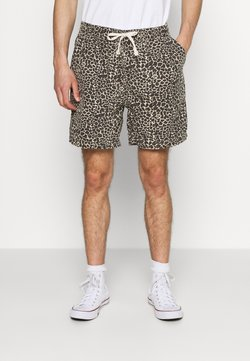 BDG Urban Outfitters - LEOPARD DRAWSTRING - Short - brown