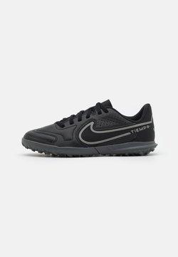Nike Performance - JR TIEMPO LEGEND 9 CLUB TF UNISEX - Korki Turfy - black/iron grey/metallic bomber gry