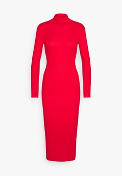 Missguided Petite - ROLL NECK  MIDI DRESS - Vestido de tubo - red