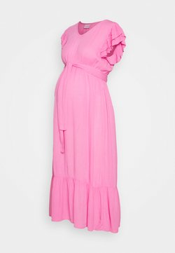 MAMALICIOUS - MLARISA CAP MIDI DRESS - Vestido informal - fuchsia pink