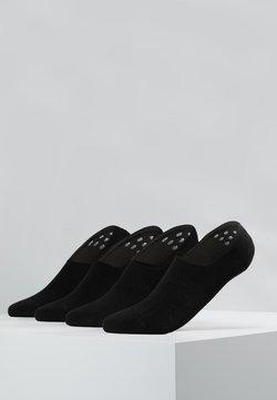 camano - INVISIBLE SNEAKER 4 PACK - Füßlinge - black