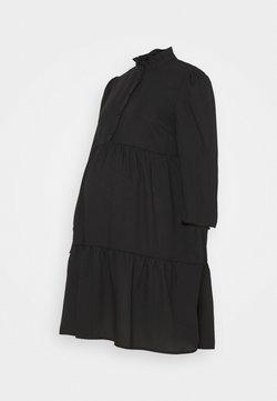 Pieces Maternity - PCMLULLA DRESS - Vestido camisero - black