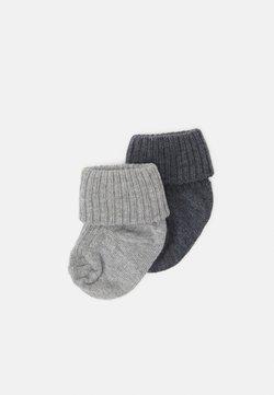 MP Denmark - BABY SOCKS 2 PACK UNISEX - Socken - grey melange