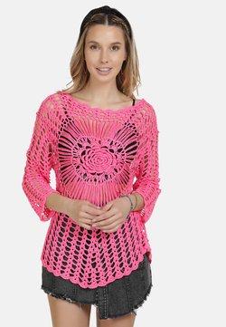 IZIA - IZIA HÄKELPULLOVER - Strickpullover - neon pink