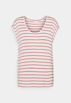 TOM TAILOR DENIM - STRIPED RELAXED TEE - T-Shirt print - rose/white