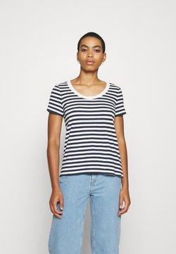 Esprit - STRIPED SHIRT - T-Shirt print - navy