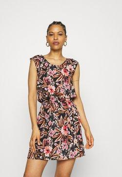 LASCANA - BEACH DRESS - Freizeitkleid - schwarz/apricot