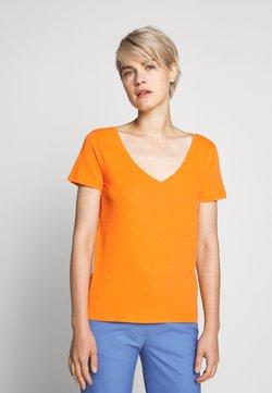 J.CREW - VINTAGE V NECK TEE - T-shirt basique - orange slice