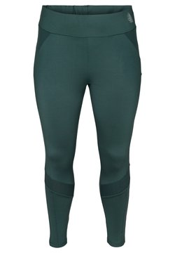 Active by Zizzi - CROPPED, TEXTURED - Tights - green