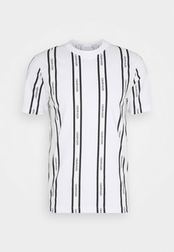 Calvin Klein - VERTICAL LOGO STRIPE - T-shirt imprimé - white