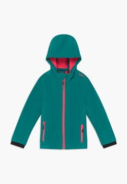 CMP - GIRL FIX HOOD - Softshelljacke - lake