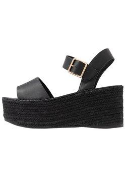 Topshop - DOVE WEDGE - Sandalen met plateauzool - black