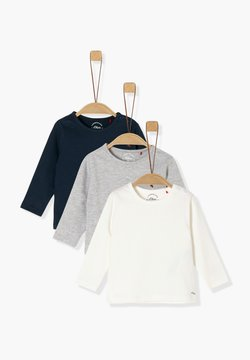 s.Oliver - 3ER-PACK - Longsleeve - navy/grey/cream