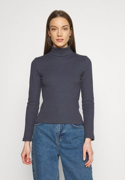 Pieces - PCANNA ROLL NECK - Strickpullover - ombre blue