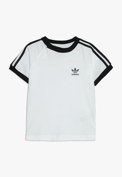 adidas Originals - STRIPES TEE - T-shirt print - white/black