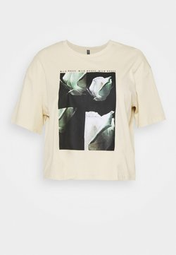 Pieces Curve - PCRUME TEE - T-shirts med print - fog