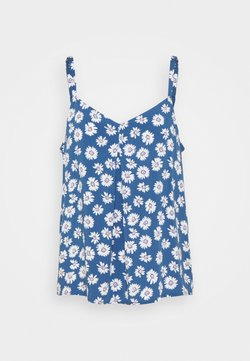 GAP - PLEAT FASH TANK - Bluse - blue