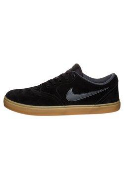 Nike SB - CHECK SOLARSOFT - Chaussures de skate - black/anthracite