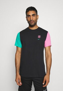 Nike Performance - FC BARCELONA TEE TRAVEL - Equipación de clubes - black/new green/lotus pink