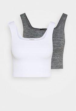 Even&Odd - 2 PACK - Débardeur - white/light grey