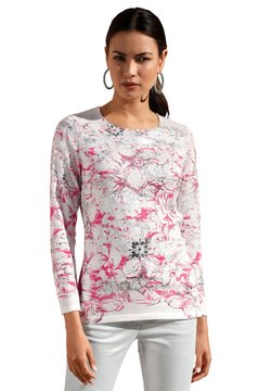 Amy Vermont - Strickpullover - off-white/pink