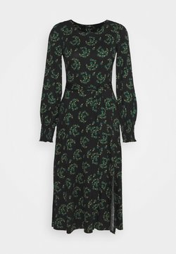 Wallis - FAN FLORAL DRESS - Freizeitkleid - green
