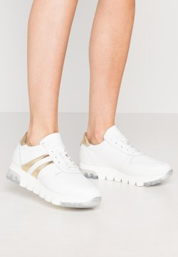 Tamaris - LACE-UP - Sneakers laag - white/gold
